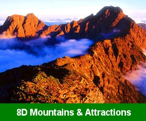 8D Mountains & Attractions